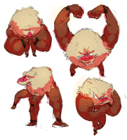 primeape by nastyjungle