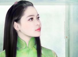 Ao Dai by okita-cathonbon