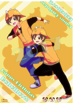 Boboiboy : Happy Birthday BBB! ( event 2017 ) by Xierally