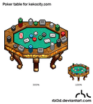 Poker Table  for kekocity.com by rbl3d