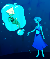 Lapis And Peridot by MeowTownPolice