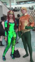 Mera and Aquaman from Aquaman series at AX 2013 by trivto