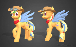 Zap Apple 3D Render by ChronoTrickle