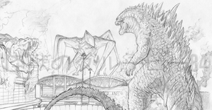 Godzilla 2014 Request for ~BenStiller14 by kaijugroupie84