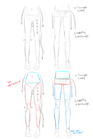 drawing legs tutorial by taka-maple