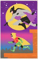 The Bat-Man and Robin by Hartter