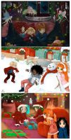Collab : Christmas Postcards by Hieyizar