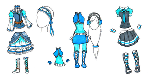 BlueHecate Full Outfit Set by Lt-Frogg