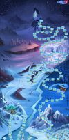 Mapa Arendelle (Frozen Free Fall) by Thehalobender