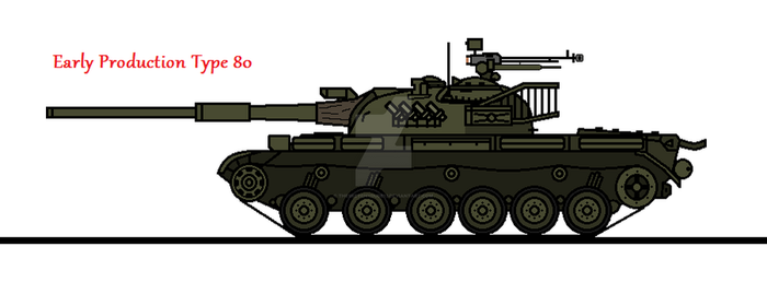 Early Production Type 80 by thesketchydude13