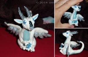 Snow Dragon Sculpt by Ember-Eyes