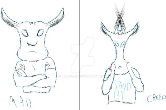 Mad and Creep Cows by AnjosArt