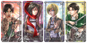 Shingeki no Bookmarks by PlatinaSi