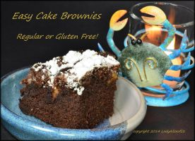 Easy Cake Brownies - regular or gluten free!! by LadyAliceofOz