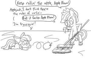 Apple Curling by spicyhamsandwich