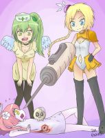 Ebola-chan, Zmapp-chan y Vacuna-chan by pinkaito