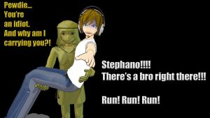 Pewdiepie and Stephano by LEXI-BUNNIE