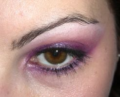 make up - hot pink and purple by ale-sensee