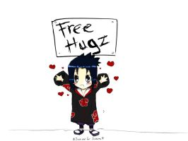 sasuke free hugs by nondice