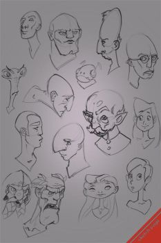 Character Head doodles 01 by Matiush83