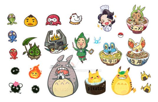 Pikatoro / Legend of Zelda /Pokemon XY Stickers by Pikatoro
