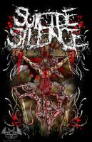 Suicide Silence T-Shirt Design by MajiaNegraDesigns