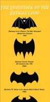 Evolution of the Batman Logo by Coleey
