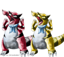 Shiny krookodile by Phatmon66