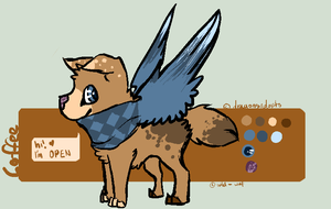 scarfwing puppy | auction | open | points | sb 20 by zepIyn