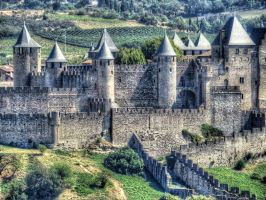 The walled city of Carcassonne 4 by Hubert11
