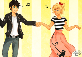 Percabeth-50's Fever by TheGingerMenace123