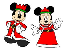 King and Queen of Disney Xmas by KingLeonLionheart