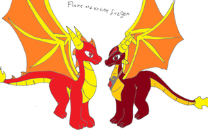 Flame and his sister firegem by pd123sonic