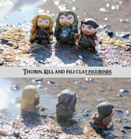 Thorin, Kili, and Fili (Old set) by Comsical