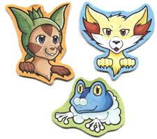 Cardboard Cutout Kalos Starters by Inkbound