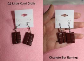 Chocolate Bar Earrings by lkcrafts