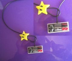 NES star and controller lariat by sneakyfetusprod