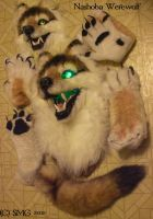 Realistic nashoba wolf fursuit-costuming thingers by Nashoba-Hostina