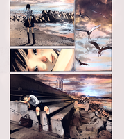 manga colouring: a girl by the sea by cassisxx