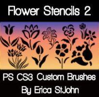 Flower Stencil Set2 PS Brushes by estjohn