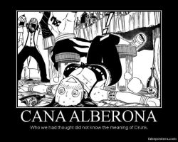 Cana Alberona Loses in Drinking (Demotiv. Poster) by Juuhachigourox