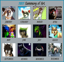 Art Summary for 2012 by iHeadsetShiba