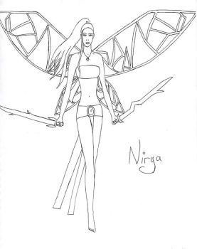 Nirya without colour by tiger-girl