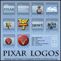 Pixar Logos - Icons by iFab