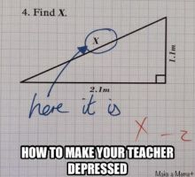 How to make your teacher depressed by cosenza987