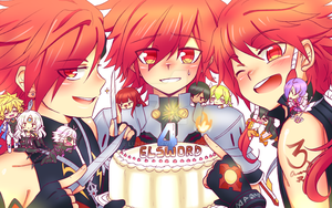 .:Elsword 4th Anniversary:. by LunaNiji
