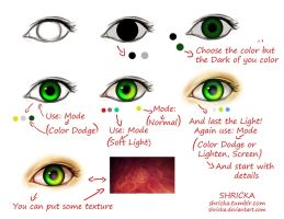 How can you put color on the eyes by Shricka