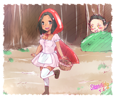 Cecco x Shani: Little Red Riding Hood by ShaniNeko