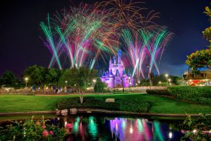 Cinderella Castle Reflects on Wishes by shaderf