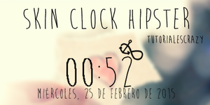 SKIN CLOCK HIPSTER by tutorialescrazy